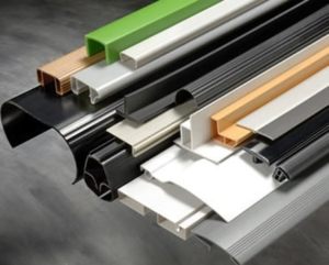 Stack of general-purpose manufactured plastic made by Custom Profiles Incoporated